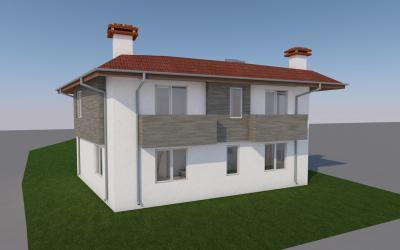 Двуфамилна двуетажна жилищна сграда