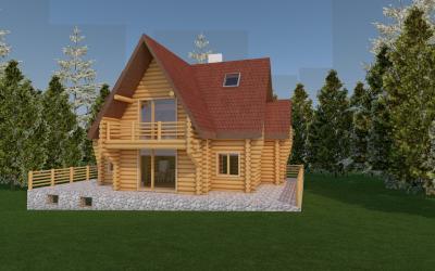Къща за гости от дървени трупи