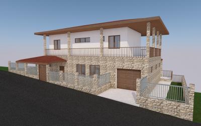 Еднофамилна двуетажна жилищна сграда